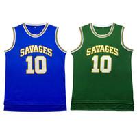 Wholesale Men s Stitched SAVAGES Dennis Rodman jersey High school Dennis Rodman baskeball jersey Cheap Embroidery Logos