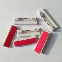 adhesive badge pin - 100 Plastic Adhesive Bar Safety Pins ID Badge Crafting Part Pins x12 mm