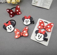 al por mayor arcos del pelo de los niños al por mayor de accesorios-Clásico de moda Minnie Minnie ratón arco niñas pinzas de pelo Hairbands bebé niños accesorios niños barrettes dibujos animados A126