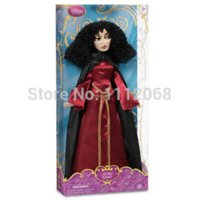 "Unisex 8-11 Years Plastic Free Shipping Original Disny Princess Tangled Rapunzel High Quality Doll Gift 12"" - Witch Mother Gothel Kids Toys for Girls Toys"