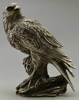 antique tree light - Collectible Decorated Old Handwork Silver Plate Copper Eagle On Tree Statue
