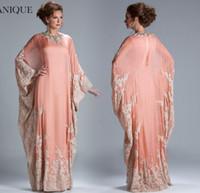 Cheap 2016 Arabic Evening Dresses Dubai Fancy Prom Dresses Abaya Janique Islamic Kaftan Chiffon Beaded Crystals Muslin Long Evening Dresses Wear