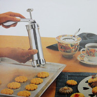 Wholesale Kitchen Tools Cookie Biscuits Press Machine Aluminum Natural and harmless Cake Making Decorating Gun Cookie Biscuits Baking Pastry Tools