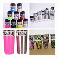 Wholesale YETI Rambler Stainless Steel oz oz oz Yeti Cups Bilayer orange purple Color Insulation Mug Keep Drink Cold Mugs Large Capacity Mug