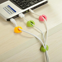 Wholesale cable clips nice Wire Cord Cable Drop Desktop Clips for cable Organizer ClipTies Management Mix colors