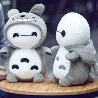 achat en gros de oreiller bébé totoro-Wholesale 2016 New Arrival Unisex Baymax Pour Bébé Toy Totoro 32cm Doll Pillow Jouets Grande Fille Anniversaire Cadeau De La Journée Des Enfants