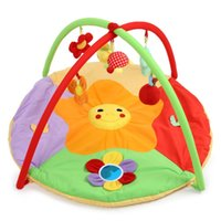 Wholesale 2016 Hot Baby Soft Play Mat Game Blanket Pad Kids Play Fitness Frame Educational Sunflower Gym Blanket with Frame Rattle Crawli
