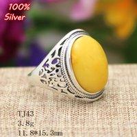 Anillo ajustable del anillo de Oavl de la joyería de plata del 100% Sterling 925 Placa de plata antigua de la base de la piedra preciosa del ajuste de 11.8 * 15.3MM