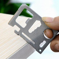 Wholesale Credit Card Survival Pocket Knife MultI function Mini Saw Camping Hand outdoor Tools Camping Tools