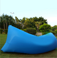 Wholesale Creative fast inflatable sofa outdoor air bag with portable camping beach inflatable cushion