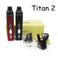Wholesale New Titan Vaporizer kit Hebe Dry herb E cigarette Burn dry herbs Vaporizer pen with mAh Battery Lcd display VS snoop dog