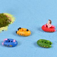 beach kayak - 4pcs Kayak Resin Craft Fairy Garden Miniatures Beach Ocean Boat Terrarium Figurines Bonsai Dollhouse Decor Jardin Gnomes Zakka