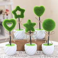Wholesale The simulation character of pot Study of home sitting room shelf creative decoration decoration simulation flowers green plants