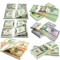 Wholesale 50Pcs Set Dollars USA Paper Money Trainings Banknotes Bank Staff Learning Training Banknotes Collect for Arts Money