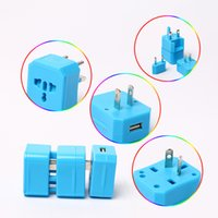 america plug adapter - Colorful travel adapter removable plugs international socket universal charger adapter for America Germany Australia England