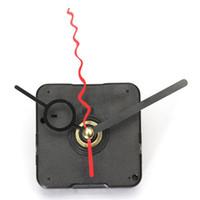 Precio de Relojes de cuarzo piezas-Venta al por mayor-nuevo rojo rizo negro agujero mano cuarzo reloj pared mecanismo de reparación de piezas de reparación