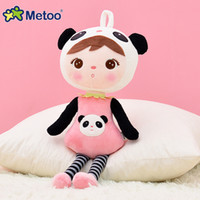 black cute baby doll achat en gros de-Metoo 45CM Keppel Black Plush Pendent Doll pour voiture Sweet Stuffed Baby Jouets pour enfants Girls Birthday Christmas Gift Cute Baby Doll