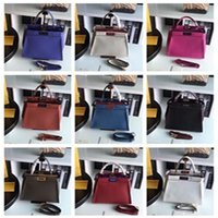 Wholesale DY_33CM top quality Luxury Fe Peekaboo Women s Genuine Leather Bag Casual Frame Handbags Famous Designer Ladies Small Totes Color