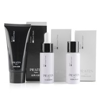 Wholesale 3pcs Set original PILATEN blackhead remover black head export liquid black mask compact toner black mud face mask