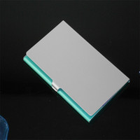 aluminum credit card cases - Business Name Credit ID Card Case Holder Aluminum Business Card Holder Good Quality Hot Selling
