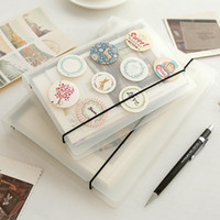 Wholesale Translucent PP straps A5A6 binder hand books note book cover spiral pp cover can change inner