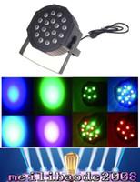 Wholesale Led stage light x3W W Channel RGB Led Flat Par Lighting for Club DJ Stage Party KTV Disco DMX Control MYY