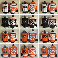 Wholesale 2017 Throwback Ice Hockey Jerseys Philadelphia Flyers Bobby Clarke Eric Lindros Ron Hextall Bernie Parent Barber Propp