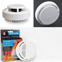Wholesale pulse signal high sensitivity fire smoke sensor Photoelectric detector for house shop hotel office buildin security with package battery