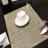 bar high tables - Pieces set x30cm High Quality PVC Insulation Placemats Bar Restaurant Grid Modern Europe Table Mat