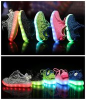 Wholesale LED Shoes For Children Camouflage Flashing Shoes With USB Charge Boys Girls Shoes Sport Casual Shoes Lighting Up Sneakers