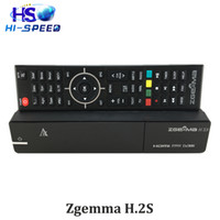 Wholesale Original Zgemma H S TWO DVB S2 enigma Linux Operating System HD zgemma h2s satellite receiver Support TF card