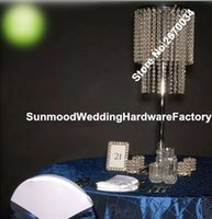 acrylic vases weddings - 60cm height Round Tall Trumpet clear acrylic crystal Vases Wedding Centerpiece