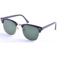 Lunettes de soleil Classic Fashion lunettes de soleil acrylique noir 51mm avec Accessoires originaux