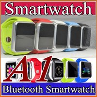 Wholesale 10X A1 Smart Watch Bluetooth DZ09 U8 Smartwatch Support SIM TF Card Smart Wrist Watches With Silicone Strap Smartphone with phone calls F BS