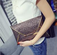 Wholesale 100pcs Fashion Envelope style Lady Sparkling Dazzling Sequins Clutch Bag Purse Evening Party Handbag