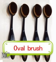 Wholesale M Soft Oval Toothbrush Makeup Brush Foundation Brushes Cream Contour Powder Blush Concealer Brush Makeup Tools with opp bag