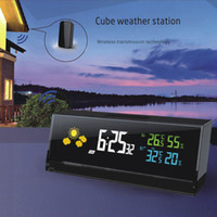 american wireless alarm - Wireless Weather Station Digital Color Lcd Thermometer Hygrometer Forecaster Clock Indoor Outdoor Humidity Meter With Remote Sensor