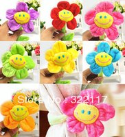 Wholesale Curtain buckle smiley flower plush cartoon curtain strap child wedding gift