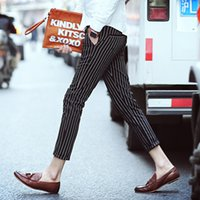 best buy clothes - Best Pencil Pants Capris Choice More Discount Button Fly Black White Mens Pants Striped Trousers Slim Fashion Casual Clothes Buy Now H008