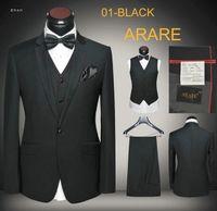 Wholesale Black Wedding Dress Men One Button pieces Slim Fit Party Suits New Designer High Quality Tuxedos Dropship