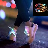 Wholesale Colorful LED Shoelaces Flash Light Up shoe laces Glow Stick Strap Shoelaces for party