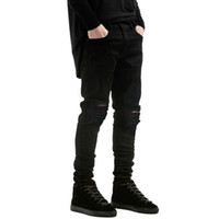 Wholesale New fashion ripped jeans Little stretch jeans for men and women