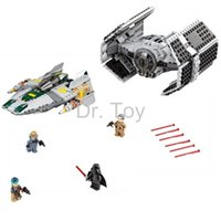 advance wars - 05030 LEPIN Star Wars Vader Tie Advanced VS A wing Starfighter Building Blocks Compatible with LEGOe STAR WARS Toy
