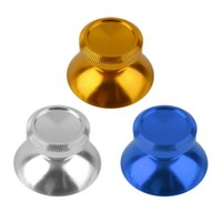 Wholesale 2pcs Universal Aluminum Alloy Metal Analog Joystick Thumbstick Cap For PS4 for Xbox One Controller hot new