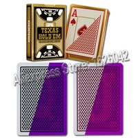 Wholesale XF Brazil Copag Texas Hold em Poker Size Jumbo Index Invisible Plastic Playing Cards For Contact Lenses Gambling Cheat Device