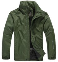 Wholesale Spring Autumn new Men s Outdoor Sport jacket Men casual Fashion hooded jacket Men Windbreaker Zipper Waterproof Coats