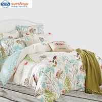 Wholesale Svetanya Duvet cover set without comforter pastoral Bird printing bedding sets queen double full size Bedlinen Cotton