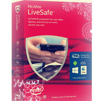 Wholesale Original Code key McAfee LiveSafe Unlimited Devices PC Mac Android iOS years Years years Yrs Protection top up service