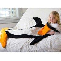 Wholesale Latest Kids Baby Sleeping Bag Cartoon Penguin Blanket Design for Kids Super Soft Cuddly Polar Fleece Fabric