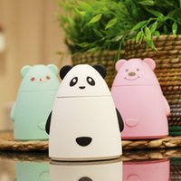 aromatherapy bears - New Cartoon Bear USB Ultrasonic Air Humidifier Mini Essential Oil Aroma Diffuser Aromatherapy Home Office SPA Mist Maker